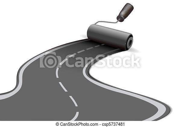 road roller - csp5737481