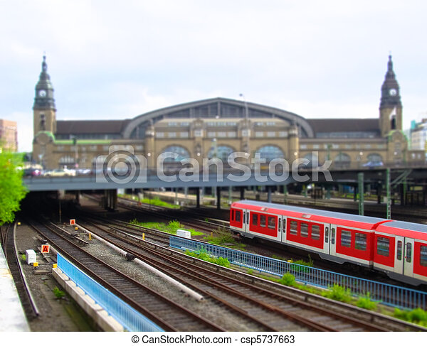 Train station of Hamburg, Germany - csp5737663