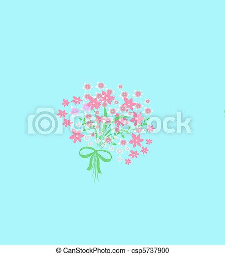 pink poisies bouquet - csp5737900