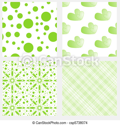 illustration textures carrelage seamless collection - Faience Vert Et Blanc