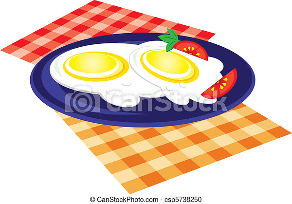 Lunch is fried on a plate - csp5738250
