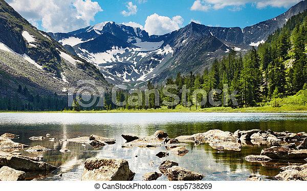Mountain lake - csp5738269