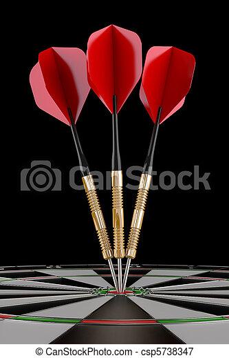 darts on target - csp5738347