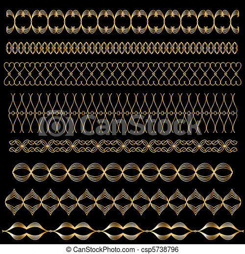 Golden vector trim or border set - csp5738796