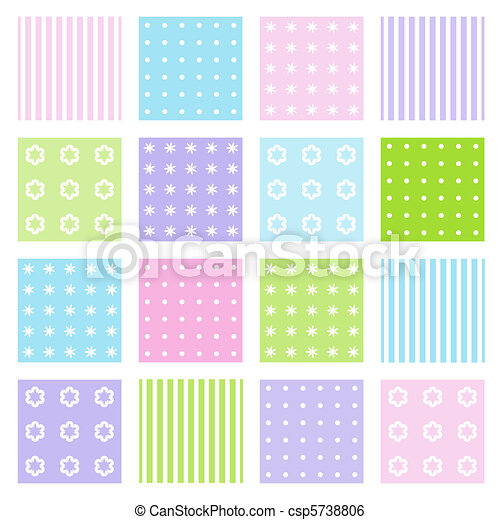 Set of seamless patterns - csp5738806