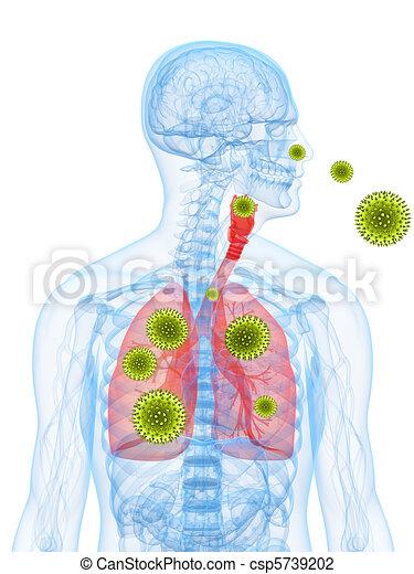 pollen allergy illustration - csp5739202