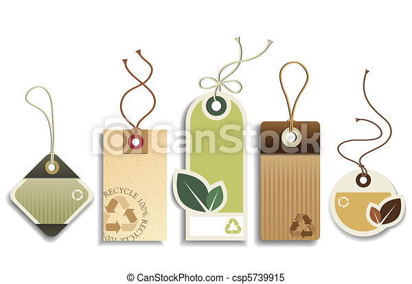 Eco Recycle Tags - csp5739915