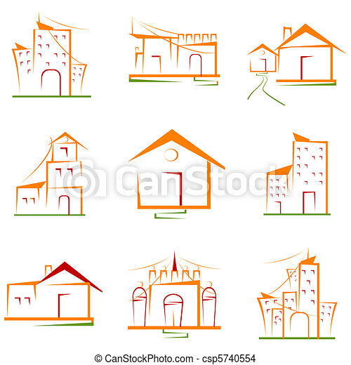 Set of Architectural Building - csp5740554
