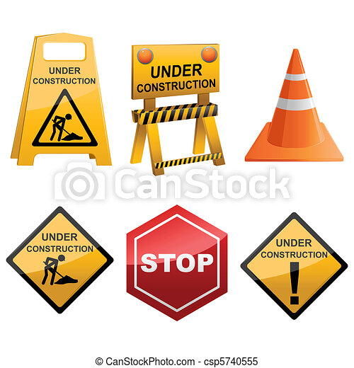 Under Construction Icon Set - csp5740555