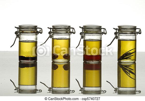 bottles of aromatic oil - csp5740727