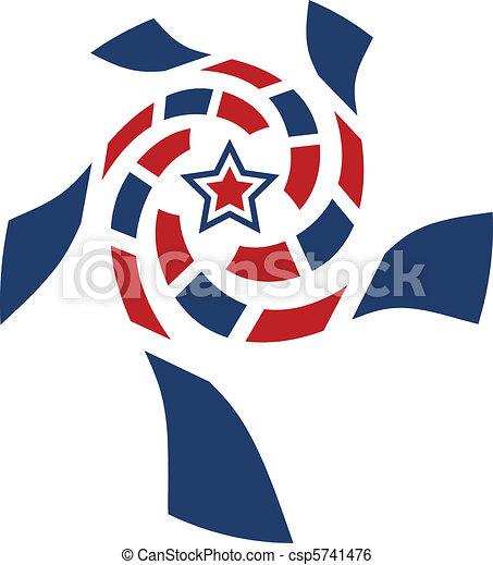 Star usa swirl - csp5741476