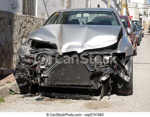 damaged car after an accident      - csp5741863