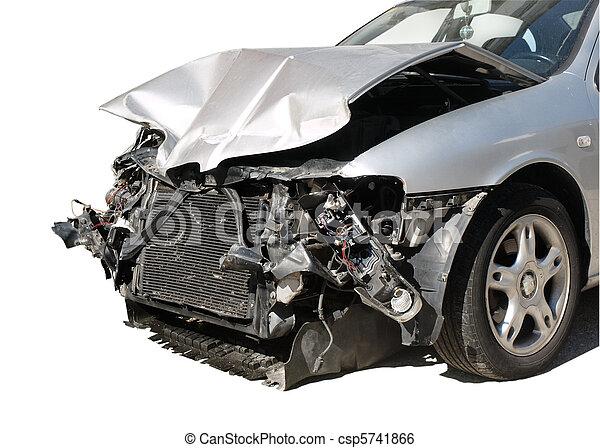 damaged car after an accident  - csp5741866