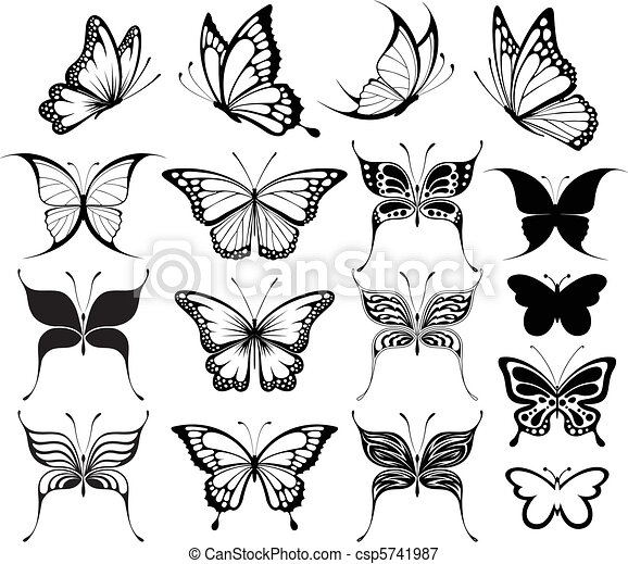 butterfly clipart - csp5741987
