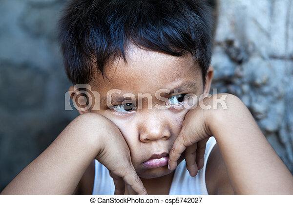 Young Filipino boy portrait - csp5742027