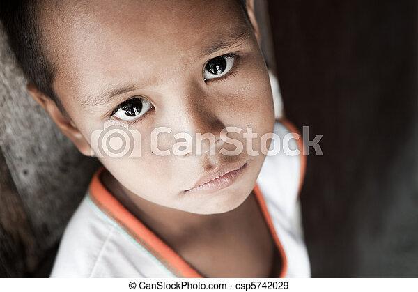 Filipino boy portrait - csp5742029
