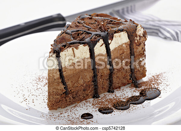 cream chocolate cake sweet food - csp5742128