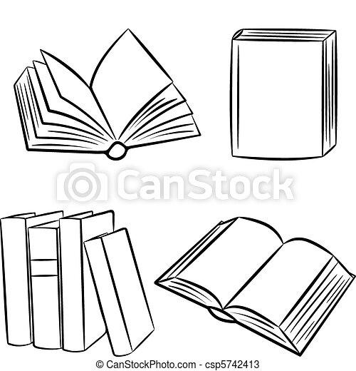 Bücherstapel clipart schwarz weiß  Buecher Illustrationen und Clip-Art. 421.421 Buecher Lizenzfreie ...