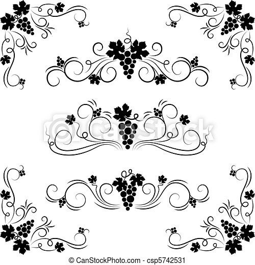 Grape design elements.  - csp5742531