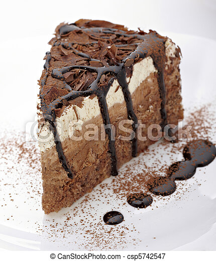 cream chocolate cake sweet food