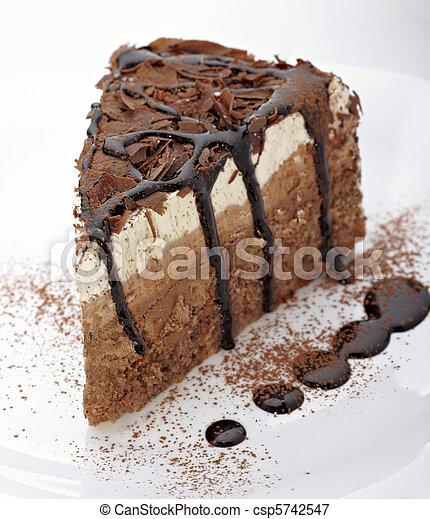 bolo, doce, creme, alimento,  chocolate - csp5742547