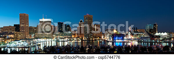 Baltimore Maryland Skyline at Night - csp5744776