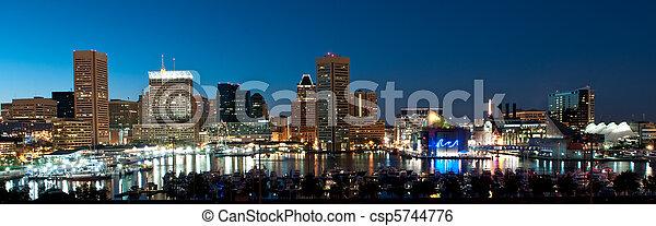Baltimore Maryland Skyline at Night - csp5744776