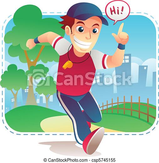 Running coach - csp5745155