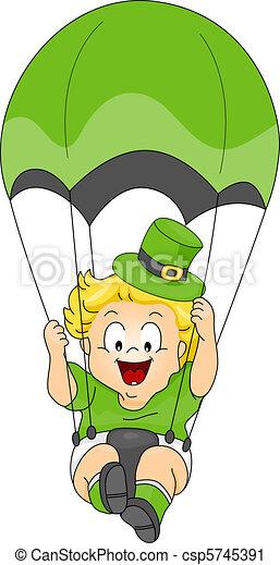 Baby Parachuting - csp5745391