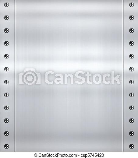 steel alloy metal background - csp5745420