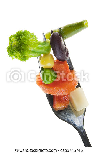 Correct vegetable diet concept - csp5745745