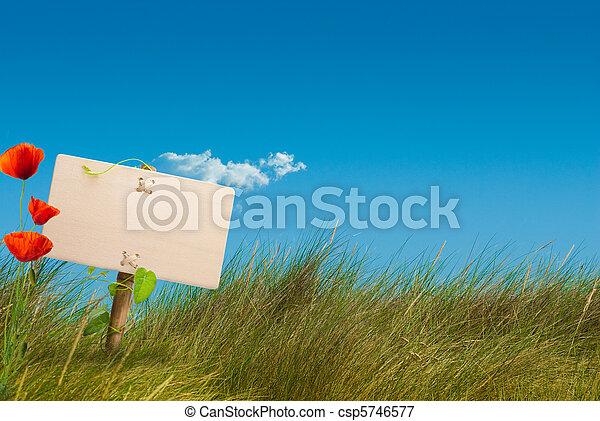 green sign wild land - eco friendly communication - csp5746577