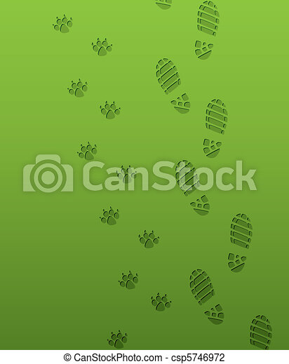 foot prints - csp5746972