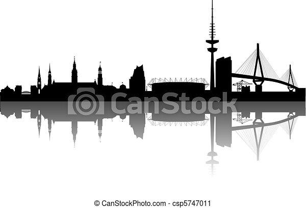 Hamburg Silhouette - csp5747011