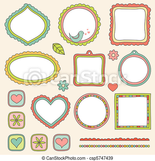 Set of frames. Vector illustration. - csp5747439