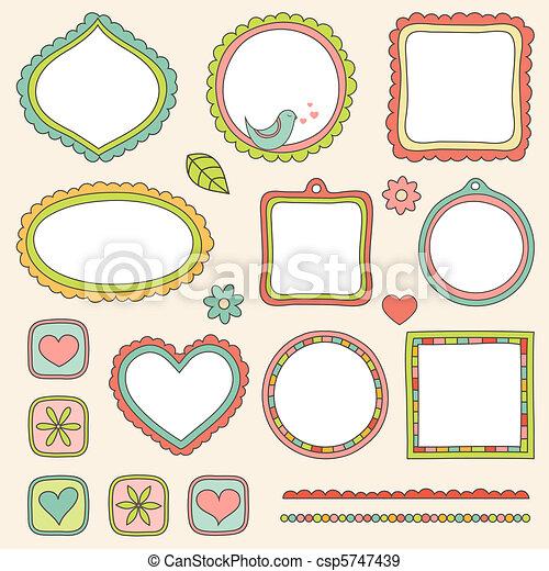 Set of frames. Vector illustration. - csp5747439