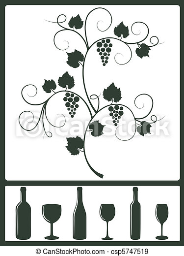 Winery design objects. - csp5747519