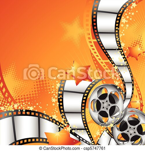 Background with Film Reels - csp5747761