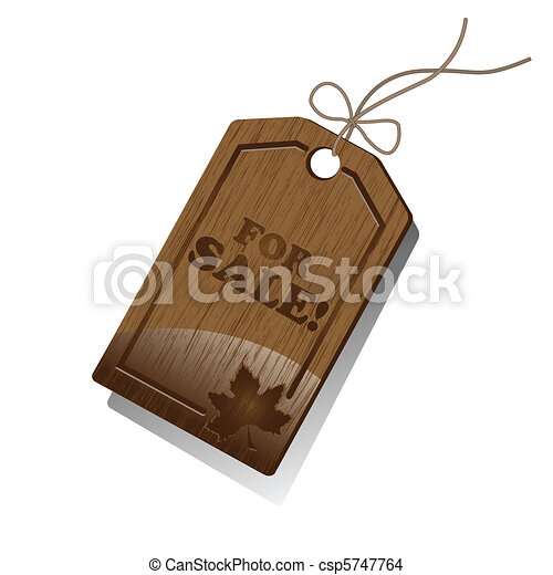 Wooden Sales Tag  - csp5747764