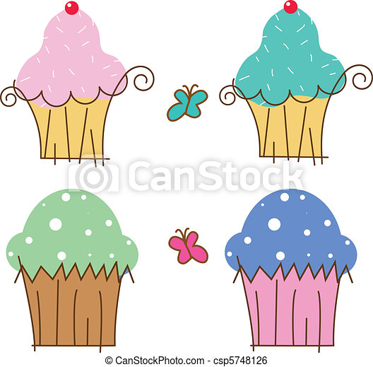 cup cakes - csp5748126