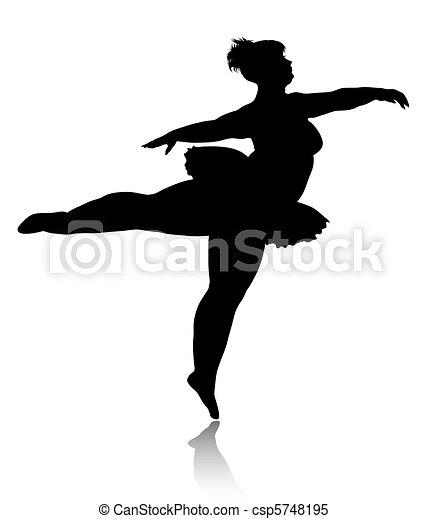 Overweight ballerina silhouette - csp5748195