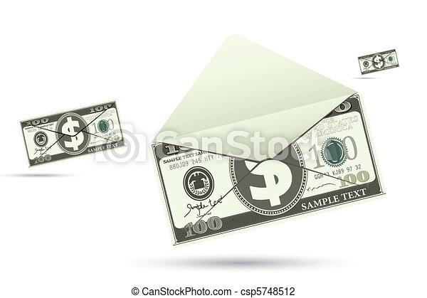 Dollar Envelope - csp5748512