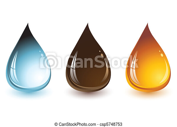 Water, Chocolate and Honey Drops - csp5748753