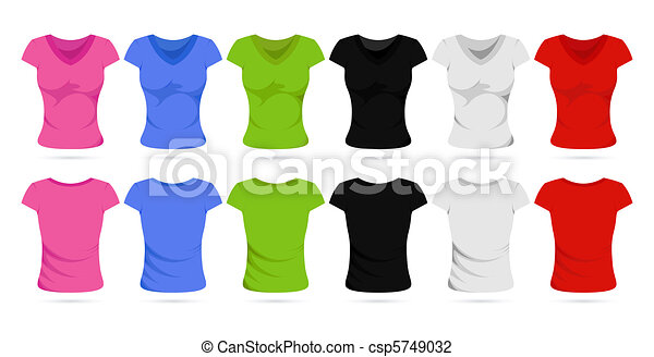 Colorful Female T-Shirt - csp5749032