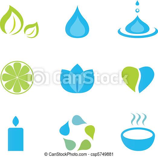 Water, wellness and zen icons - csp5749881