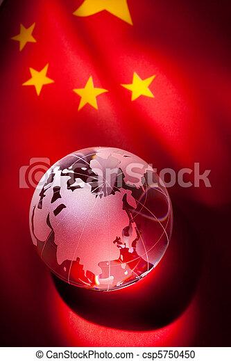 Globe and China Flag - csp5750450