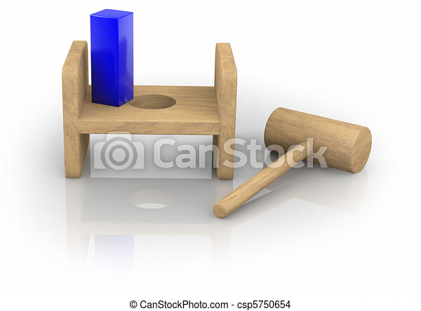 Square Peg in the Round Hole - csp5750654