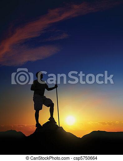 Summit at Dawn - csp5750664