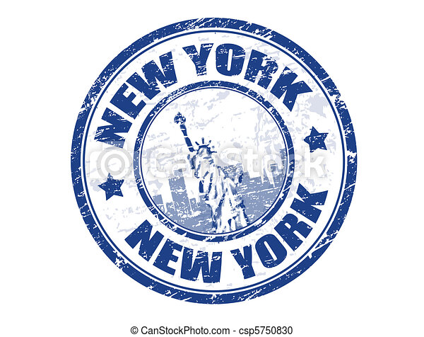 New York stamp - csp5750830