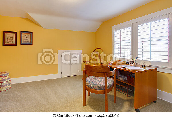 Yellow happy simple home office - csp5750842